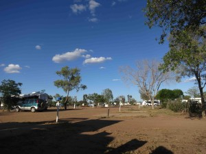 Outback campsite at Longreach