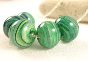 Apple Green Necklace - Original handmade jewellery