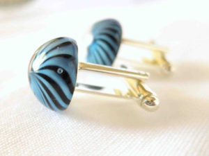 Blue Glass Cufflinks