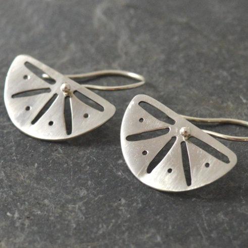 Half Moon Sterling Silver Earrings
