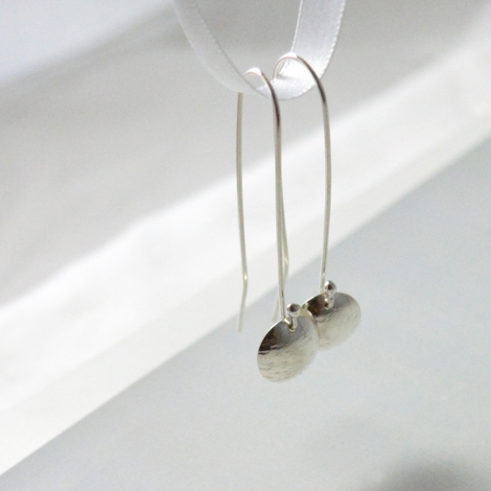 Handmade Long Sterling Silver Earrings