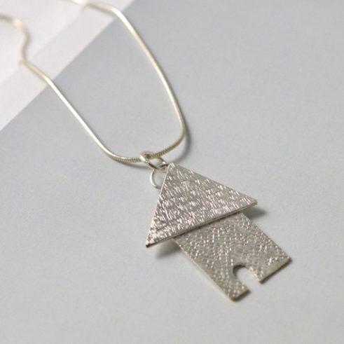 Fairytale House Silver Pendant