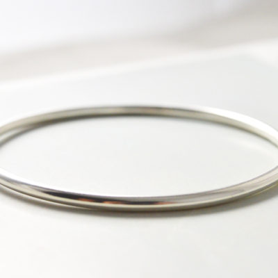 Handmade 3mm thin silver bangle