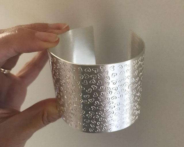 Statement Silver Cuff Bangle Craft Workshop